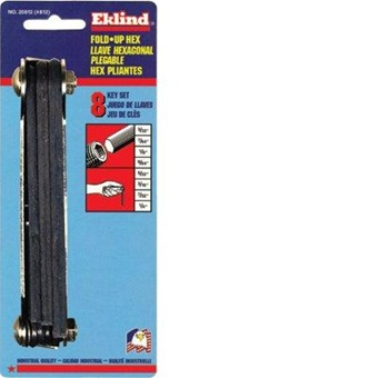 Eklind 20812 Fold Up Hex Key Set Inch 3 32 Quot Up To 1 4