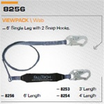 FALLTECH 8256 ClearPack Shock Absorbing Lanyard.Length 6' ( Length 6 Feet)