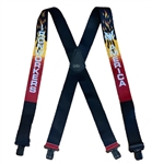 Suspender AAT-2001 Flame style - IRONWORKERS & AMERICA Suspenders - Made in USA