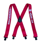 Suspender AAT-2005 Solid Red - IRONWORKERS & AMERICA Suspenders - Made in USA