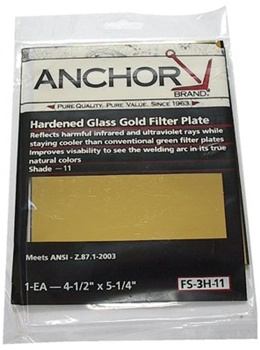 Anchor Gold Filter Plates Fs 3h 10 Welding Lens Size 4 1