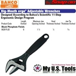 BAHCO 9029R US Big-Mouth ergo ADJUSTABLE WRENCHES SIZE 6""