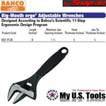 BAHCO 9031R US Big-Mouth ergo ADJUSTABLE WRENCHES SIZE 8""