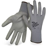 BOSS GLOVES # 1PU3500 GRAY SHADOW™ PALM DIP NON-SLIP W COLOR CODED HEM