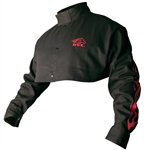 Black Stallion BSX BX21CS Black 9 oz. FR Cape Sleeves W/ Red Flames,
