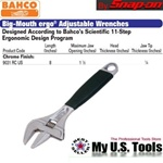 Bahco Snap On 9031 RC US Big-Mouth ergo® Adjustable Wrenches 8""