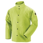Black Stallion Revco L9-30C TruGuard™ 200 FR Cotton Welding Jacket, Safety Lime