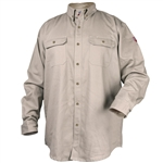 Black Stallion WF2110-ST FR Cotton Work Shirt, Stone Khaki