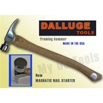 DALLUGE 2115-C 21 oz. Framing Hammer Serrated Face W/ Nailoc Magnetic Holder -CURVE HANDLES