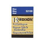 Dixon 521 Lumber Crayons- Blue Color 12 Pcs. ( Made in USA )