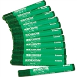 Dixon 52200 Lumber Crayons - Green Color 12 Pcs. ( Made in USA )