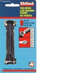 "EKLIND 20912 FOLD UP  HEX KEY SET-INCH, .050 UP TO 3/16"" (Small)  MADE IN USA"