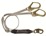 "FALLTECH 826073T FallTech 826073T Dual Leg 6' Shock Absorbing Lanyard "" Y"" Leg For 100% Tie -Off; Coated Web; With 1 Snap Hook and 2 Rebar Hooks."