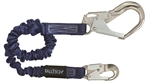 FALLTECH  # 82403A ELASTECH -Aluminum Adjustable Single Leg; with 1 Aluminum Snap Hook and 1 Aluminum Rebar Hook 4-1/2' to 6'
