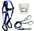 FallTech 9503Z Starter Kit Includes Harness & Double Lanyard with Rebar Hooks