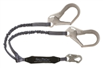 Falltech 8256ELY3 Elastic Core  Y-leg for 100% Tie-off; with 1 Snap Hook and 2 Rebar Hooks.