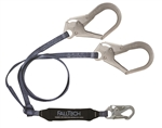 Falltech 8260733FT Web  Y-leg for 100% Tie-off; with 1 Snap Hook and 2 Rebar Hooks.3'