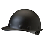 Fibre- Metal P2HNRW11A000 Cap Style  Black Roughneck Hard Hat With 3R Ratchet Headband.