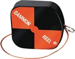 Gammon Reel # 012B Gammon Reel 12' Hi -Viz Black/ Orange. For Plumb Bob   ******* Best Seller ********* Free Shipping Cost in US *******Best Selling *******