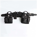 Gatorback # 140 Carpenter's Tool Belt Combo With Pro-Comfort Back Support Belt. Color - Black