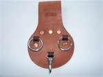 Graber Harness 12-0021Rus Heavy Duty Leather Spud Wrench Scabbard 2 Rings with Snap Hook. Made in U.S.A.