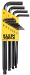 KLEIN BLK12 12-Piece L-Style Ball-End Hex-Key Caddy Set - Inch