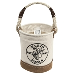 KLEIN 5104 Mini Leather-Bottom Bucket. Made in USA