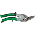Klein Tools J2101R Journeyman Offset Snips - Right/ Straight. Green/Black