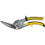 Klein Tools J2106S Journeyman Long Cut Offset Snips - Straight/ Wide Curves. Yellow/Black