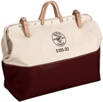 "Klein 5105-20 20"" High-Bottom Canvas Tool Bag"