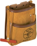 Klein 5125L  5-Pocket Tool Pouch - Leather ******* Best Seller ******
