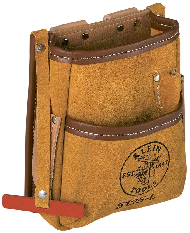 klein 5125l 5-pocket tool pouch - leather ******* best seller