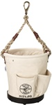 Klein 5171PS Heavy-Duty Tapered-Wall Bucket - 4 Outside Pockets