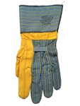 Knox-Fit S118BSC Turtle Neck - Heavy Duty Ironworker Gloves With Long Cup. Size Large 12 Pairs