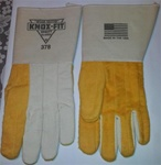 Knox-Fit 378 Heavy Duty Ironworkers Gloves 12 Pairs - Long Cups. Made in U.S.A. Size Large.