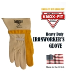 Knox-Fit 679S - Heavy Duty Ironworkers Gloves 12 Pairs MADE IN USA (Short Cup)