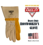 Knox-Fit - 679 Heavy Duty Ironworkers Gloves 12 Pairs MADE IN USA. (Long Cup)