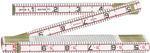 Lufkin 1066D  Red End  Folding Rulers 6-Feet.(ENGINEER RULERS)