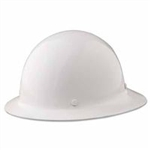 Heavy Duty MSA 475408 Skullgard Protective Hat ( FIBERGLASS ) .  FULL BEAM - STYLE. Color - White