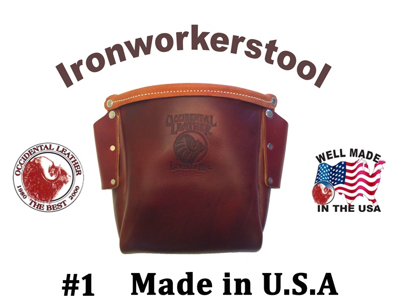 Occidental 9920 Iron Worker S Leather Bolt Bag