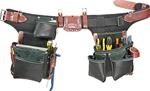 Occidental B9588 Adjust-to-Fit™ Green Building™ Tool Belt Set -  Black