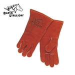 REVCO BLACK STALLION 101R Premium Side Split Cowhide Stick Welding Gloves.