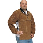 "REVCO 220CS Quality Side Split Cowhide Welding Cape Sleeve and 20"" Bib Set"