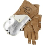 REVCO 580 FluxGuard Premium Cowhide Stick Welding Gloves - Deflector Ready