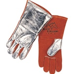REVCO 104 Premium Side Split Cowhide Stick Welding Gloves - Alum. Back