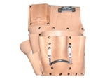 R &J Leathercraft K485MR 7 Pocket Chrom Leather Drywall Tool Pouch - Right Hand.( Soft Leather) Made in U.S.A.