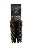 RUDEDOG USA 3011 - DOUBLE BULL PIN HOLDER WITH LEATHER STRINGS