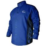 Revco Black Stallion BXRB9C  Flame-Resistant Welding Jacket - Blue with Blue Flames