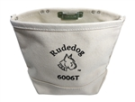 Rudedog 6006T-TH Canvas Tunnel Loop Bolt Bag With Tape Holder( Metal Clip) Made in U.S.A.