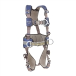 DBI SALA 1113151 ExoFit NEX™ Construction Style Positioning Harness / Climbing Aluminum back and front D-ring, belt with pad and side D-rings, locking quick connect buckle leg straps, comfort padding  Size XSmall-2Xlarge Available
